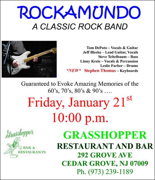 Rockamundo At Grasshopper's In Cedar Grove, NJ
